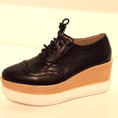 Zwarte plateau sneaker