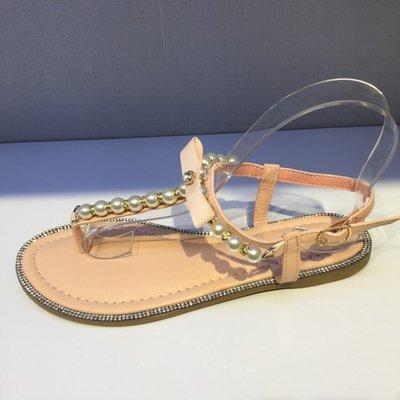 Sandaal met parels